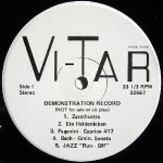 Vi-Tar Demonstration Record - Side 1
